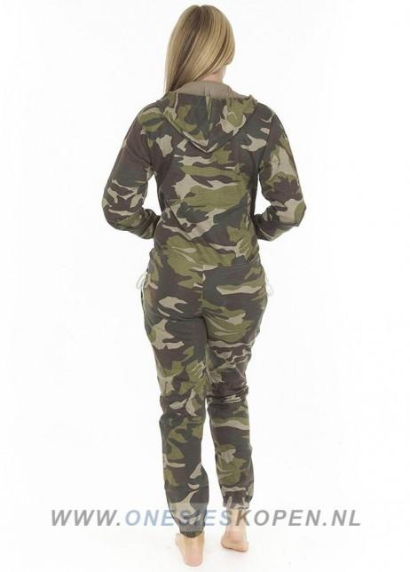 camouflage onesie uniseks dames achter
