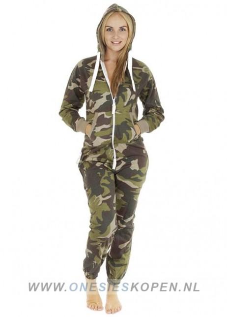camouflage onesie uniseks dames