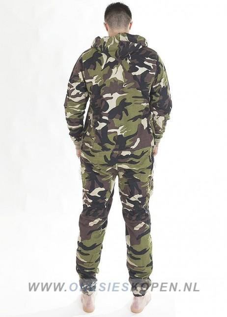 camouflage onesie uniseks achter