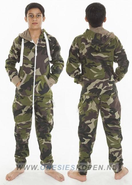 camouflage onesie uniseks tiener