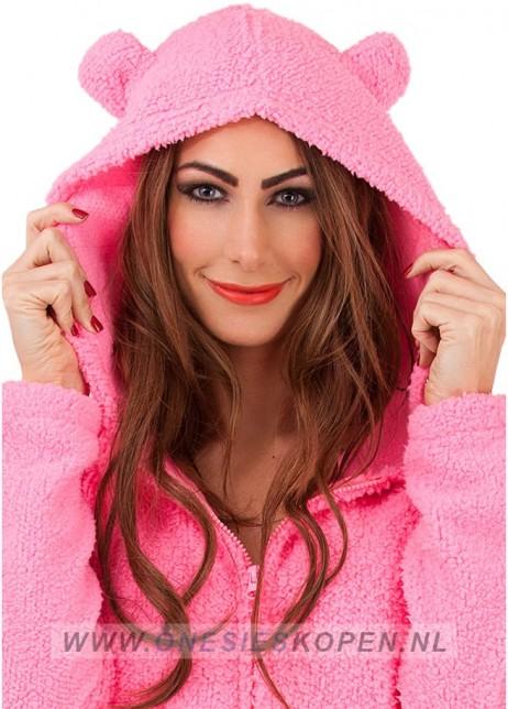 fluffy pink onesie