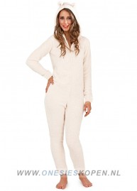 fluffy onesie white