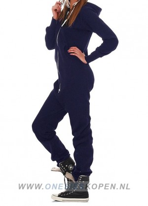 Navy onesie zij vrouw