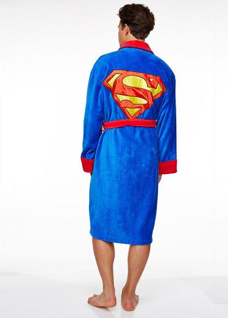 superman badjas achter