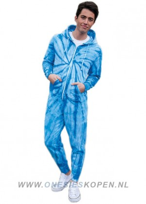 Blauwe festival onesie