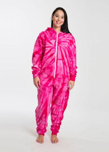 onesie pink festival madness colortone tie dye