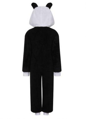 Onesie Kids panda black white back cntntl