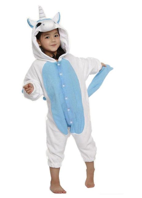 Eenhoorn onesie blauw