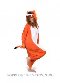 oranje leeuw kigurumi onesie voor