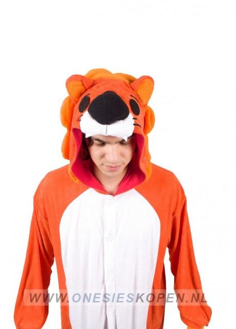 oranje leeuw kigurumi onesie detail 2