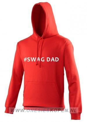 rode hoodie bedrukt swag dad