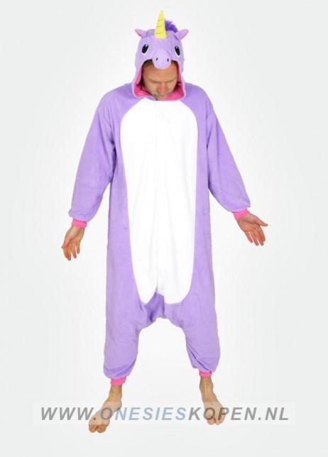 unicorn onesie paars voor