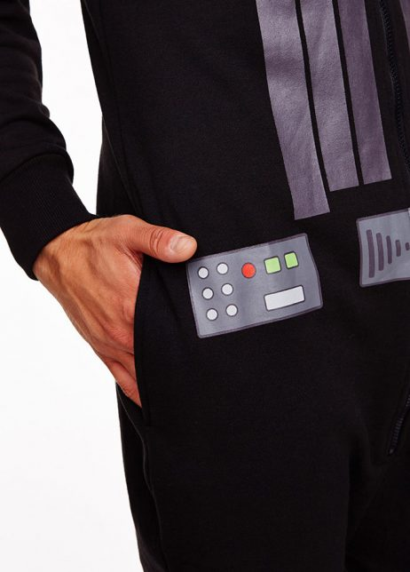 star wars Darth Vader onesie voor detail zak