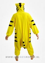 tijger onesie kigurumi achter