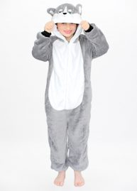 Husky onesie kids front hood
