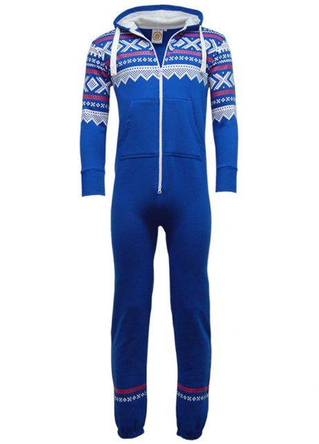 Zztec print blauw onesie uniseks