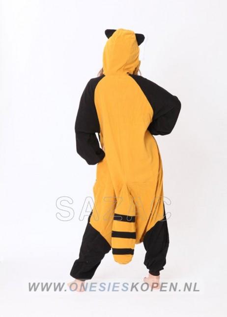 sazac red panda/raccoon onesie back