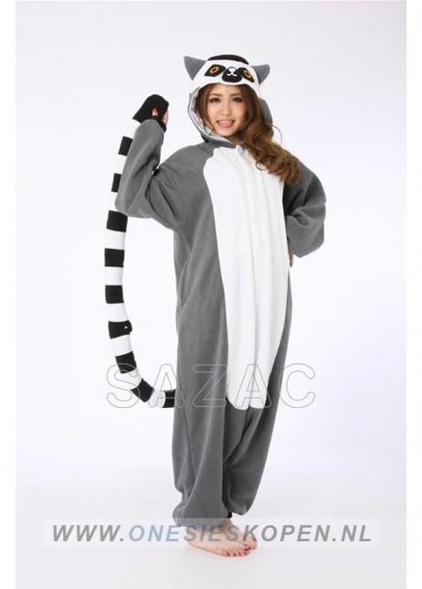 sazac ringstaartmaki onesie lemur front