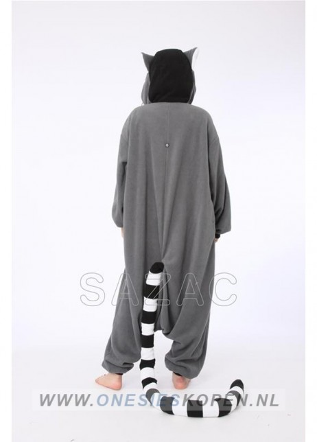 sazac ringstaartmaki onesie lemur back