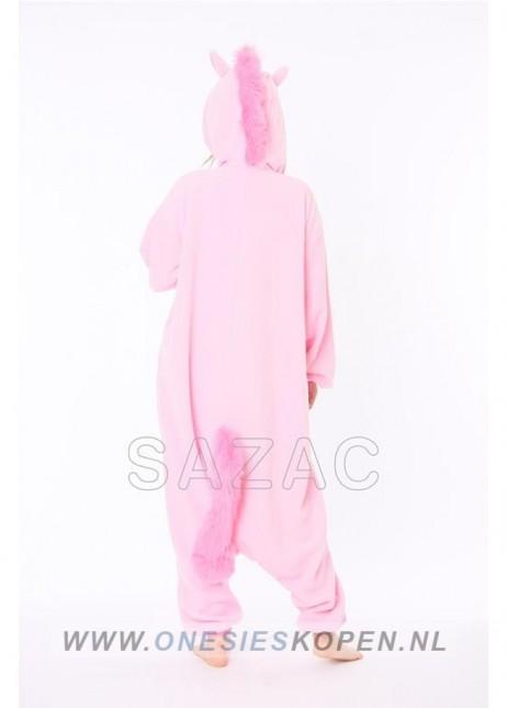 sazac roze eenhoorn onesie pink unicorn back