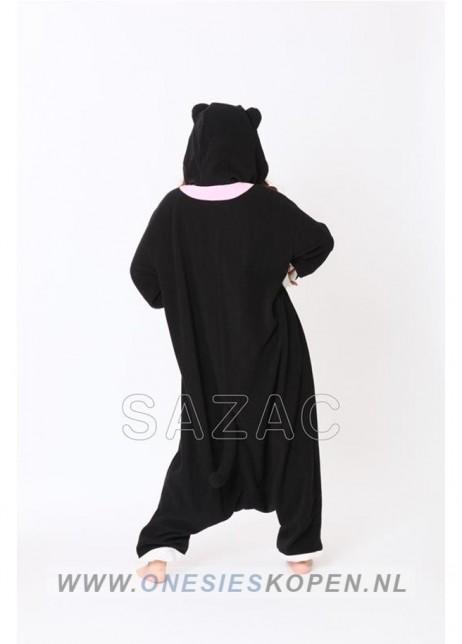 sazac zwarte kat onesie black cat back