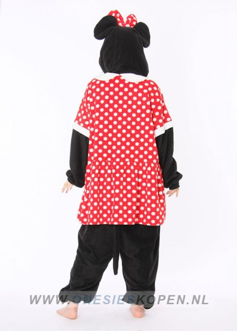 Disney Minnie Mouse onesie kigurumi sazac achter