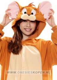 Jerry Tom en Jerry onesie kigurumi sazac detail