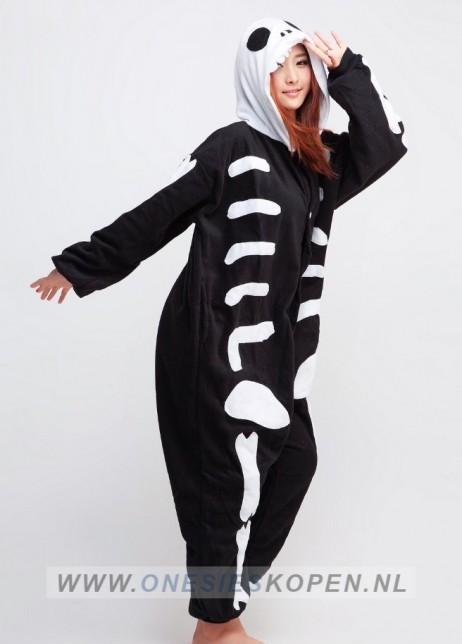 Skelet onesie - skeleton Kigurumi side