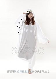 Sneeuwuil onesie kigurumi sazac voor