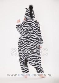 Zebra onesie kigurumi sazac achter