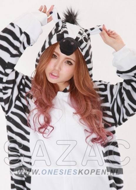 Zebra onesie kigurumi sazac detail