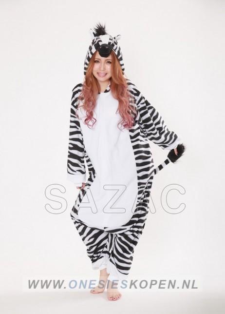 Zebra onesie kigurumi sazac voor