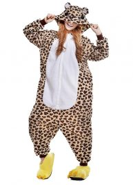 teddy luipaard onesie voor