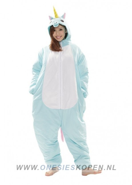 oneski skigurumi blue unicorn ski onesie