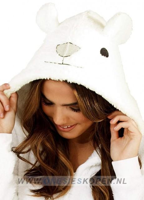 ijsbeer onesie capuchon