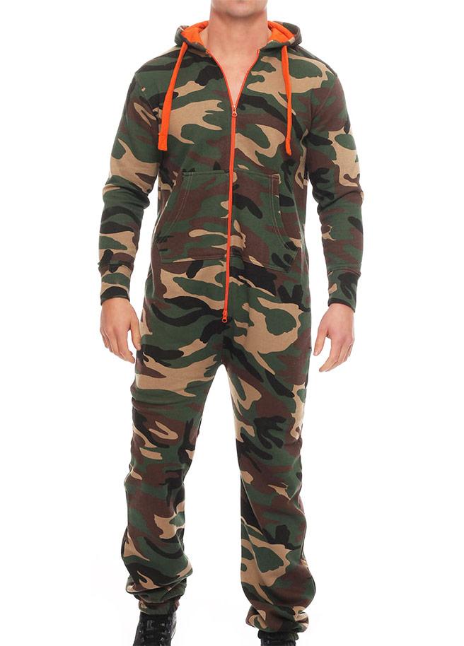 camouflage legerprint onesie uniseks man