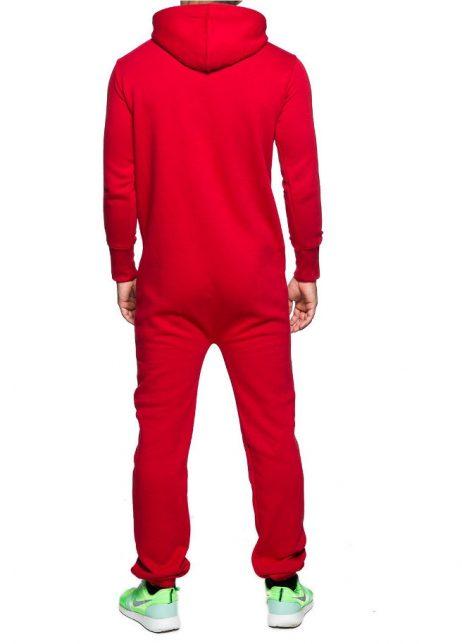 rood onesie unisex man achter
