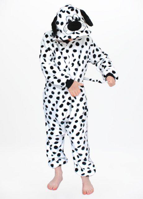 Dalmatier onesie hond dalmation dog kids front hood