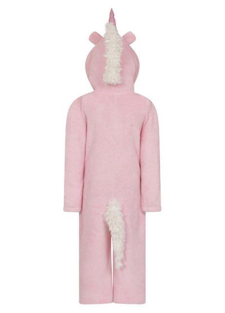 Onesie kids unicorn pink eenhoorn roze back