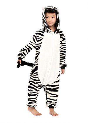 zebra onesie kids kigurumi
