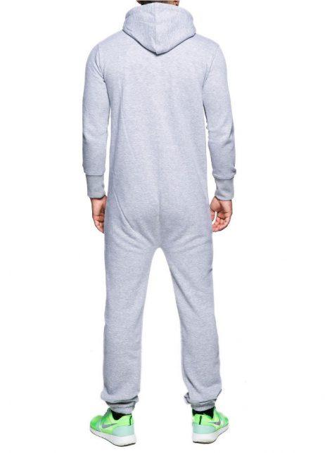 grijs onesie unisex man achter