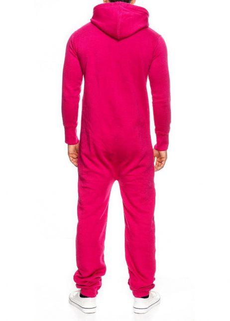 roze onesie unisex man achter