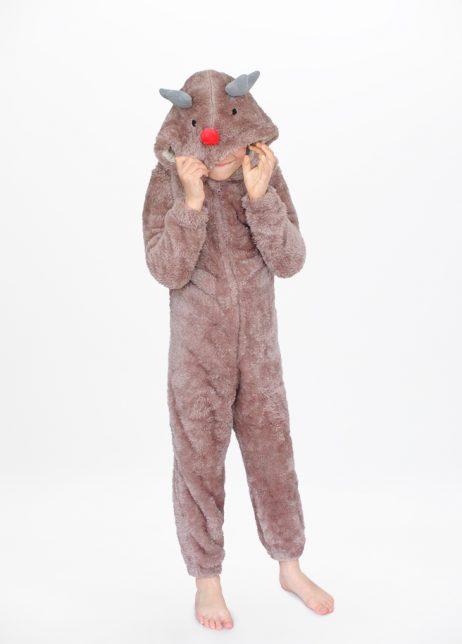 Rendier onesie Reindeer kids front hood cntntl