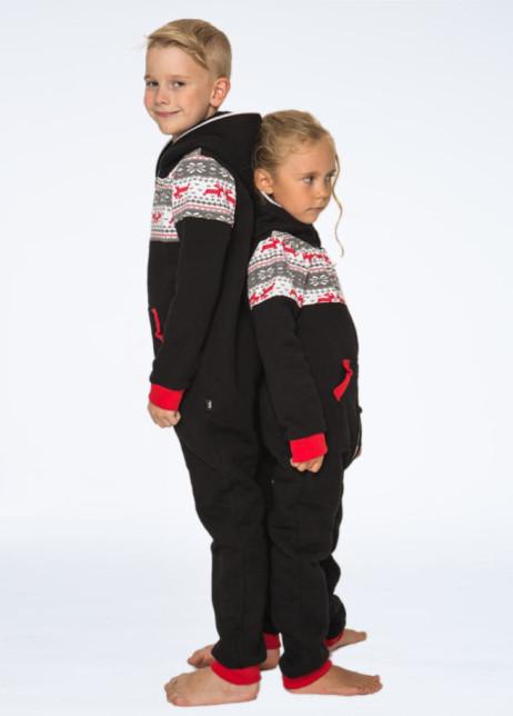 Sofakiller nordic onesie black kids side