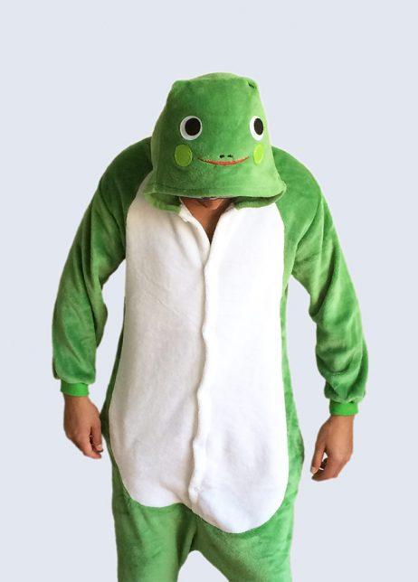 kikker-onesie frog onesie detail