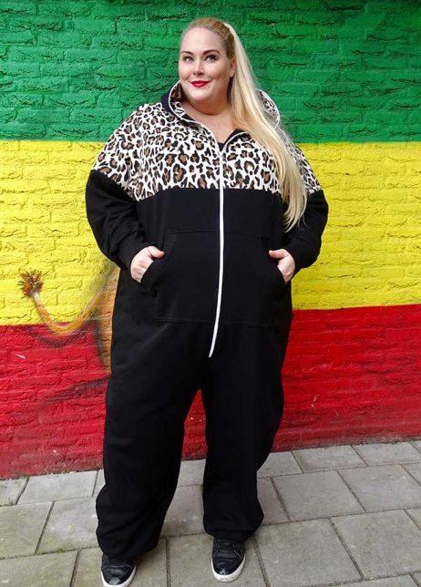 Sofa Killer Plus Size onesie leopard luipaard adults