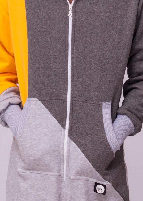 sofakiller tricolor sunny unisex onesie detail