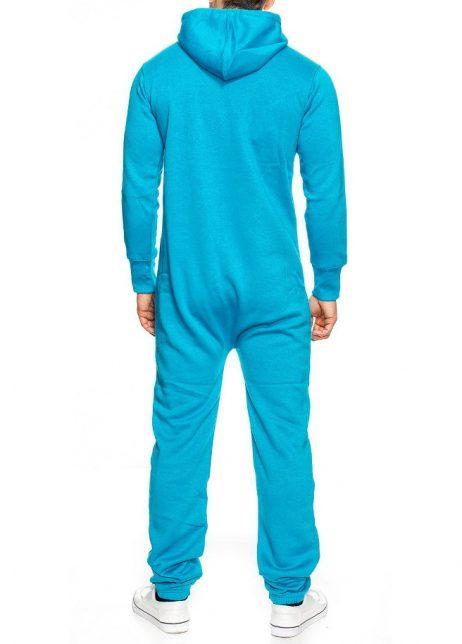 lichtblauw onesie unisex man achter