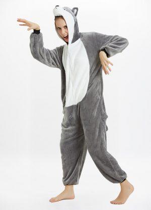 Husky onesie adult front