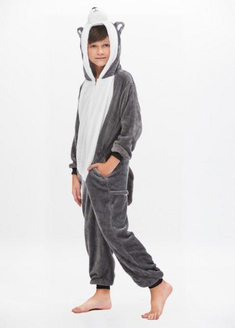 Husky onesie kids front